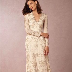 Long sleeve maxi gown